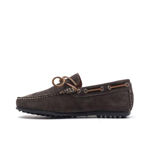 Ανδρικά Μοκασίνια Damiani 851 Leather Castor Grey Ανδρικά Παπούτσια
