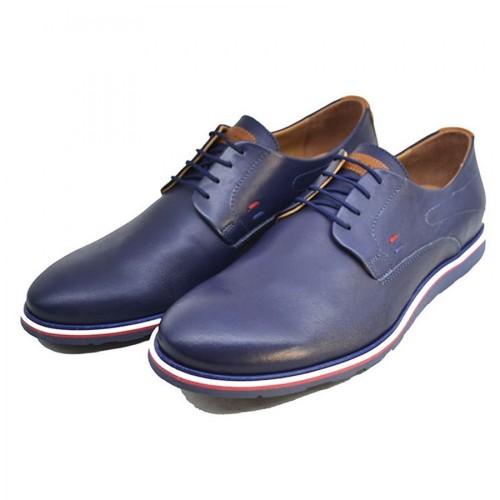 Damiani 606 Leather Blue Ανδρικά Παπούτσια