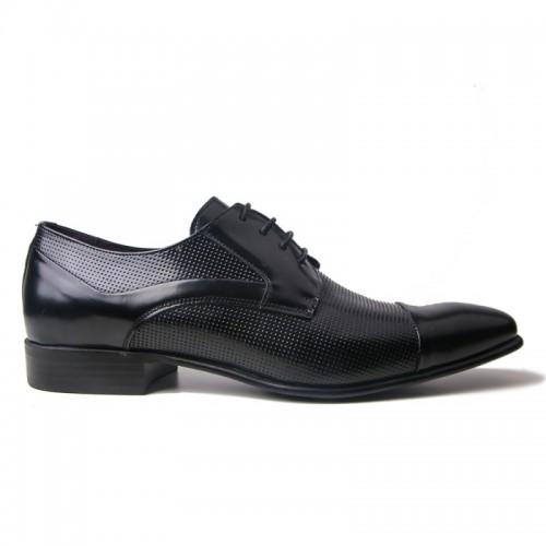Damiani 266 Leather Black Ανδρικά Παπούτσια 8e2ea5fa5f8