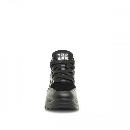 Γυναικεία Sneakers Sixtyseven 30263 Leather Actled Black Suede Black Νέες Παραλαβές
