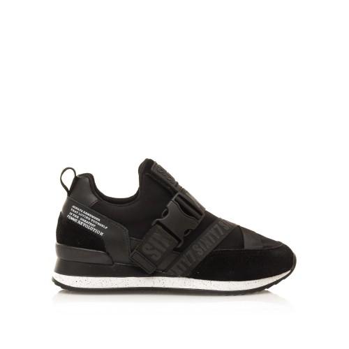 Γυναικεία Sneakers Sixtyseven 30275 Leather Suede Black Neoprene Νέες Παραλαβές