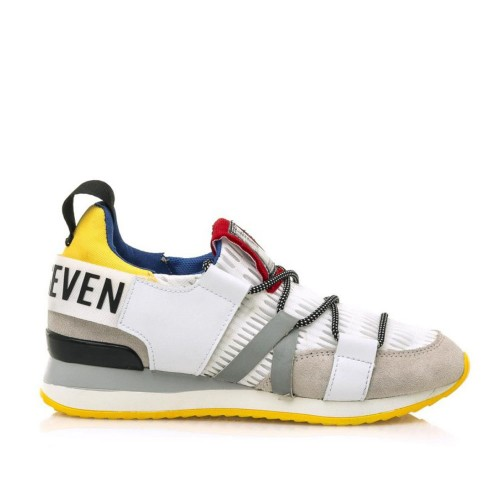 Γυναικεία Sneakers Sixtyseven 79789 Suede leather Off White Nylon Yellow