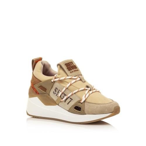 Γυναικεία Sneakers Sixtyseven 30301 Leather Suede Beige Neoprene Γυναικεία Παπούτσια