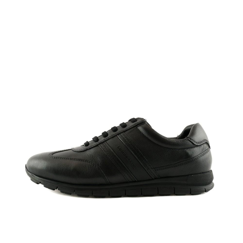 6dee660b4d9 -44% Ανδρικά Casual Δετά Sneakers Lumberjack SM16404 Leather Black Ανδρικά  Παπούτσια