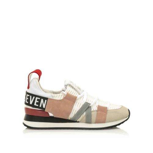 Γυναικεία Sneakers Sixtyseven 79789 Leather Suede Mesh White