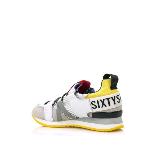 Γυναικεία Sneakers Sixtyseven 79789 Suede leather Off White Nylon Yellow