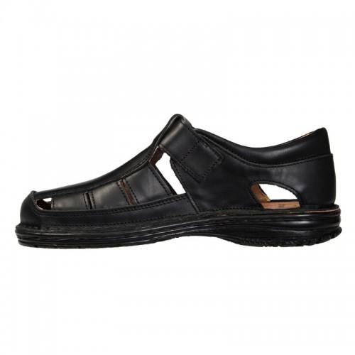 BOXER 17200 Leather Black Ανδρικά Παπούτσια 87a9d5db535