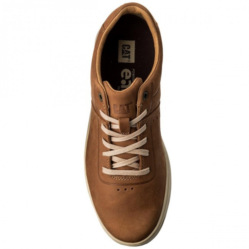 88044cde522 ... Ανδρικά Δετά Sneakers Cat P722376 Leather Ginger Ανδρικά Παπούτσια ...
