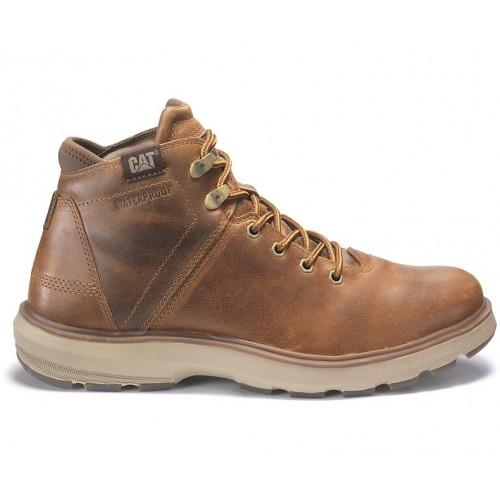 Ανδρικά Δετά Casual Αδιάβροχα Μποτάκια CAT P722924 FACTOR WP TX Leather Oily Nubuck Brown