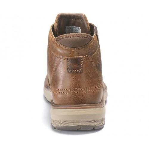 Ανδρικά Δετά Casual Αδιάβροχα Μποτάκια CAT P722924 FACTOR WP TX Leather Oily Nubuck Brown Ανδρικά Παπούτσια