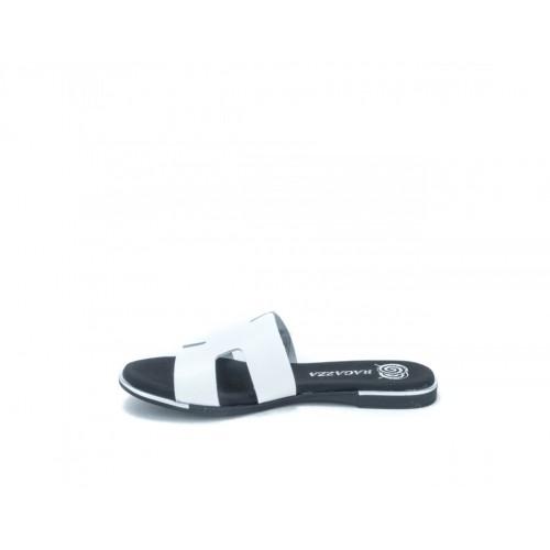 Γυναικείες Παντόφλες Ragazza 01041 Leather White Γυναικεία Παπούτσια