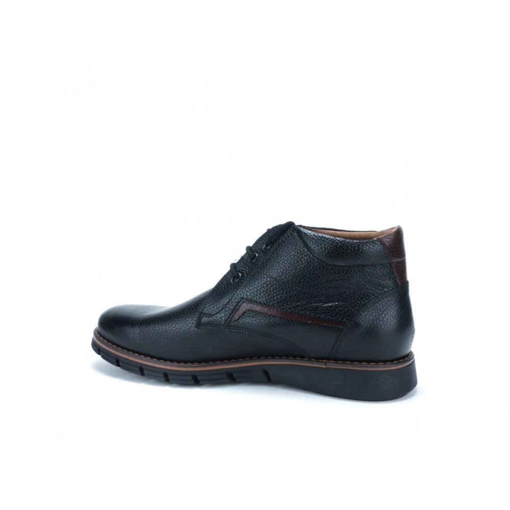 3400eff0318 ... Ανδρικά Δετά Casual Μποτάκια Antonio 158 Leather Black Ανδρικά Παπούτσια  ...