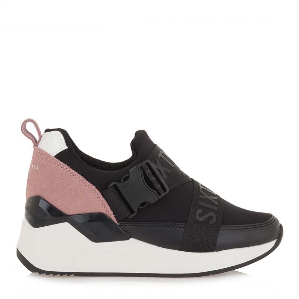 b9895da215d -22% Γυναικεία Casual Παπούτσια Sixtyseven 79874 Suede Textile Black Pink  Γυναικεία Παπούτσια