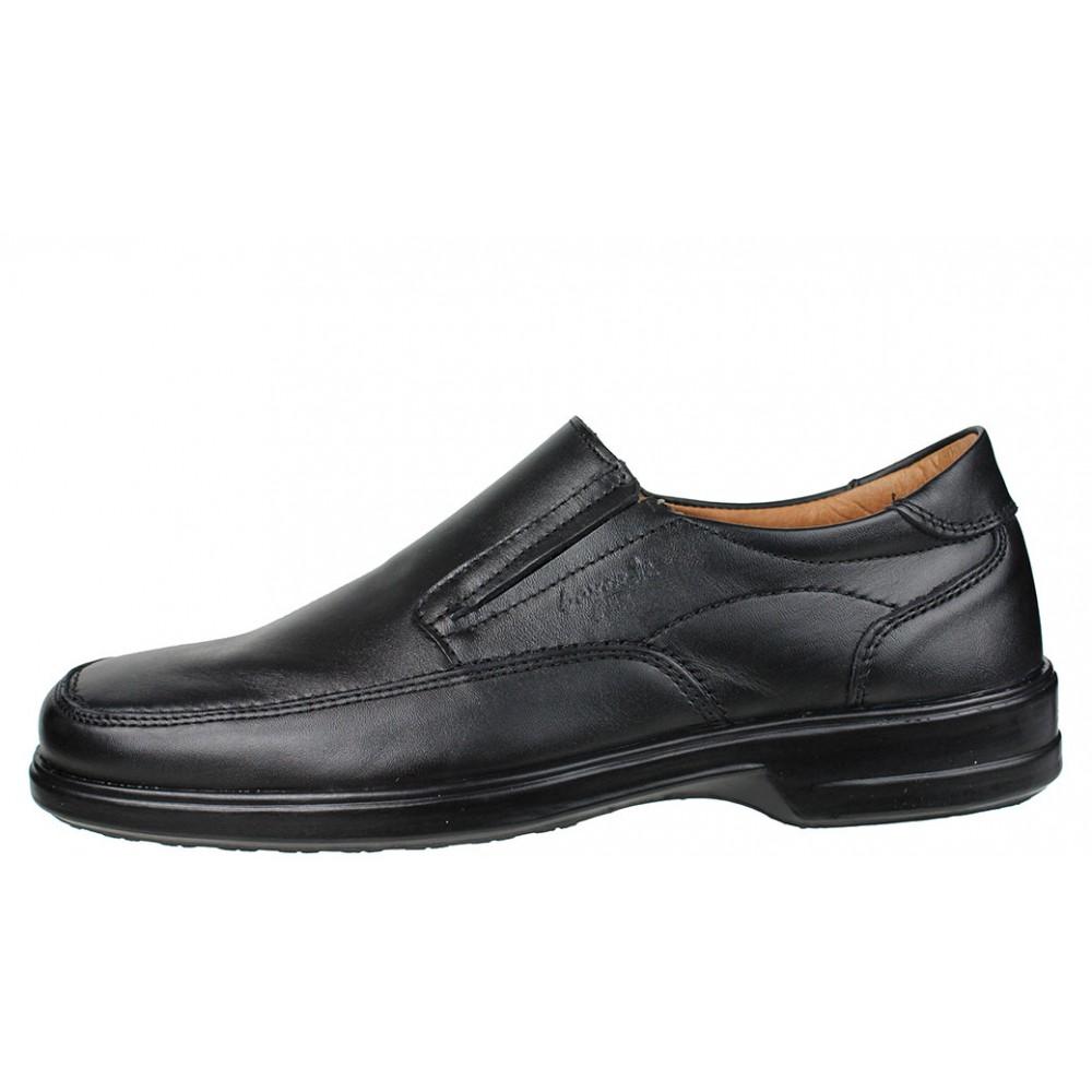 8bdb34356be Ανδρικά Casual Μοκασίνια BOXER 13753 14-111 Leather Black
