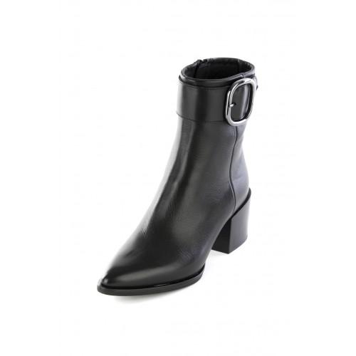 Γυναικεία Μποτάκια Ankle Boot Alpe 4353 Leather Black Νέες Παραλαβές