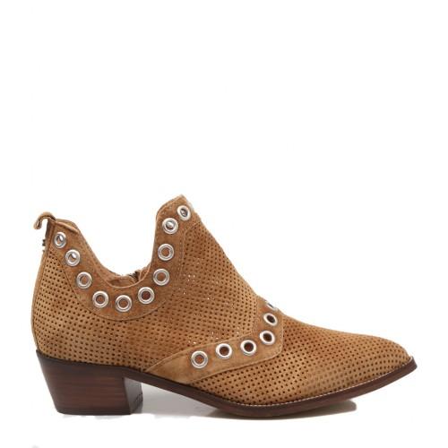 Γυναικεία Μποτάκια Alpe 4576 11 01 Leather Castori Cuero