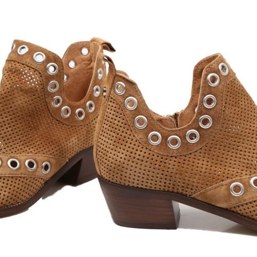 Γυναικεία Μποτάκια Alpe 4576 11 01 Leather Castori Cuero Νέες Παραλαβές