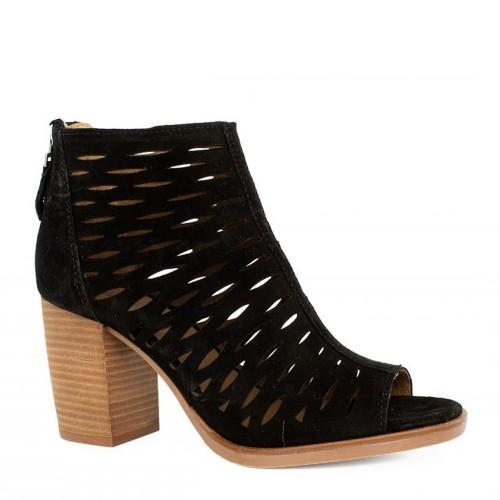 Γυναικεία Πέδιλα Alpe 4615 11 05 Leather Castori Black