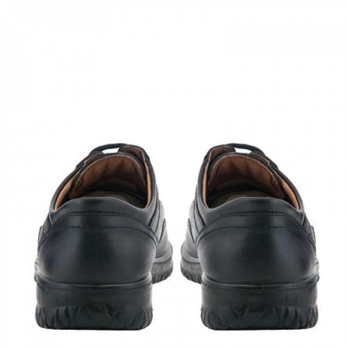 Ανδρικά Δετά Casual BOXER 14723 Leather Black