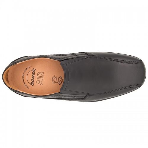 BOXER 10052 Leather Black Ανδρικά Παπούτσια
