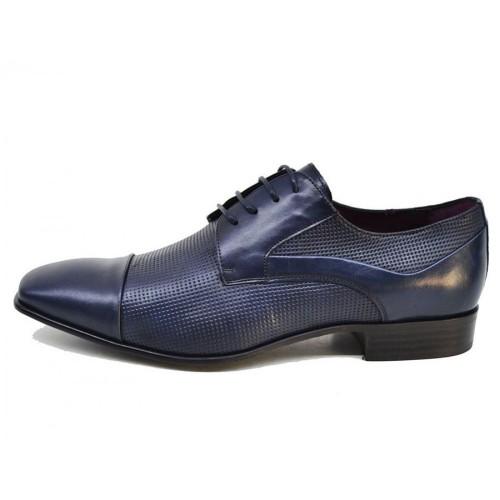 Damiani 266 Leather Blue Ανδρικά Παπούτσια 4f8636e43e1