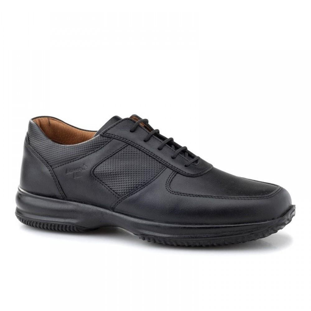 c39df0c30d5 -28% Ανδρικά Casual Δετά Παπούτσια BOXER 12098 Leather Black Νέες Παραλαβές