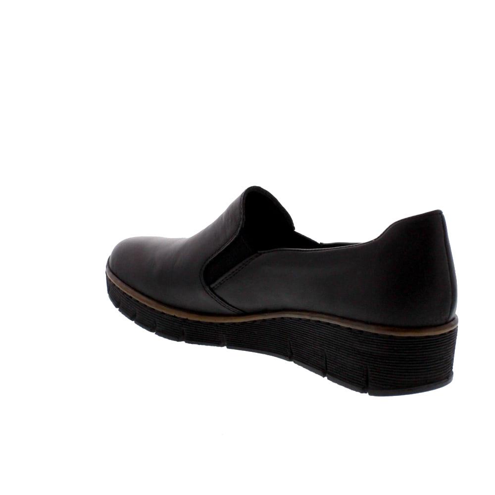 cc3273adf47 Γυναικεία Casual παπούτσια Rieker 53766 Leather Black