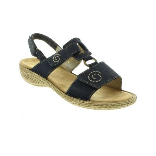 Γυναικεία Πέδιλα Rieker 65863 Leather Black Γυναικεία Παπούτσια e0ee56e3022