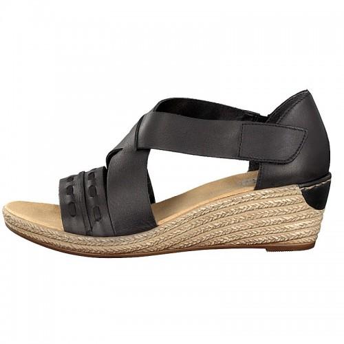 a693bf184cc Γυναικεία Πέδιλα Πλατφόρμες Rieker 62469-01 Leather Black Γυναικεία  Παπούτσια