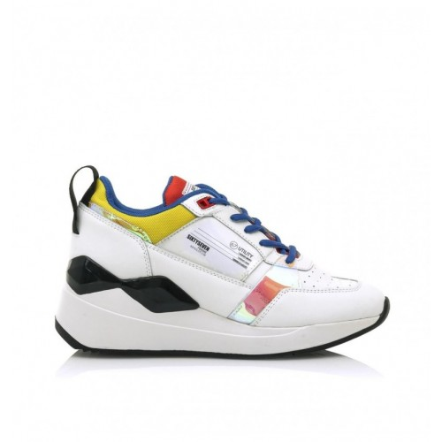 Γυναικεία Δετά Sneakers Sixtyseven 30032 Leather White Nylon Yellow