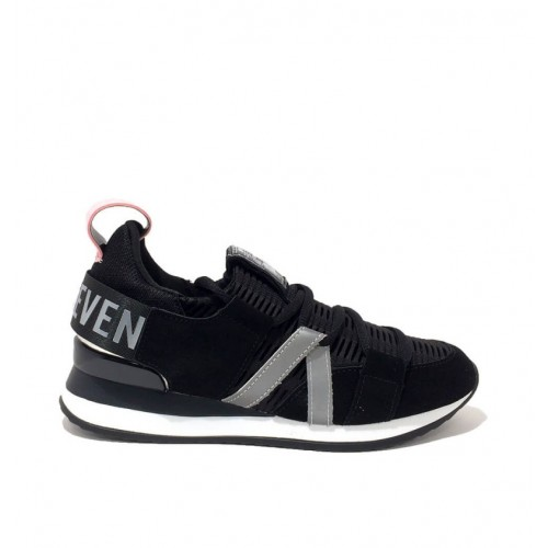 Γυναικεία Sneakers Sixtyseven 79789 Leather Suede Mesh Black