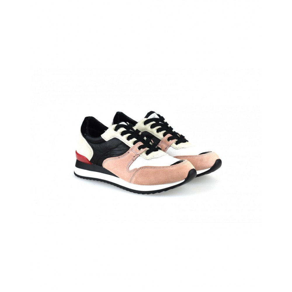 cb5a7bb2dcd ... Γυναικεία Casual Sneakers Sixtyseven 79784 Leather Suede Textile Nylus Pink  Black Γυναικεία Παπούτσια ...