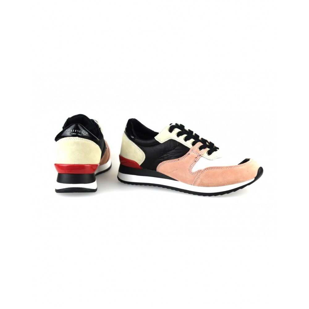 868f861e3e6 ... Γυναικεία Casual Sneakers Sixtyseven 79784 Leather Suede Textile Nylus Pink  Black Γυναικεία Παπούτσια