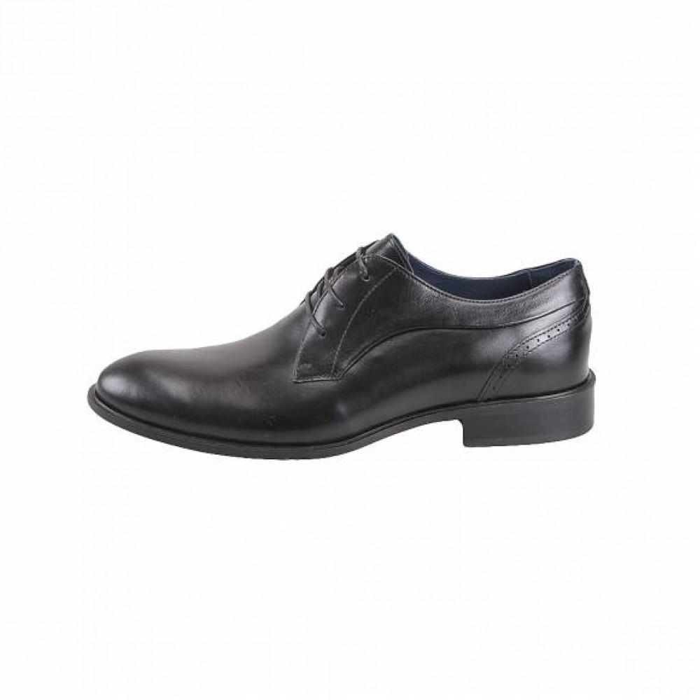 41b3cd6df86 Ανδρικά Δετά Σκαρπίνια Damiani 191 Leather Black Ανδρικά Παπούτσια